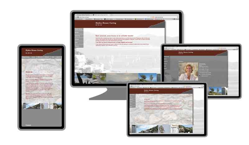 Responsive Webdesign Hydra House Caring (Griechenland)